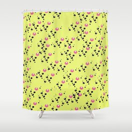 Cola Fizz: Yellow Shower Curtain