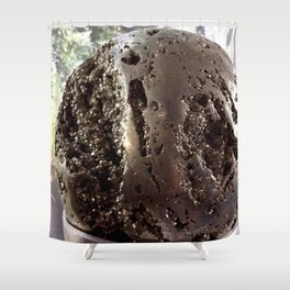 Pyrite sphere Shower Curtain