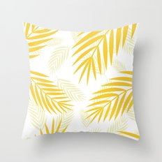 gold paradise Throw Pillow