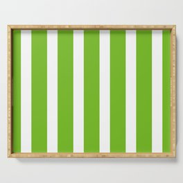 Resort Stripe in Green Serving Tray