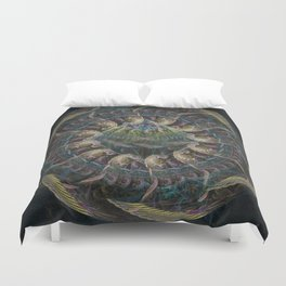 Fractal Contraption by Knightengale Duvet Cover
