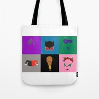 gotham Tote Bags featuring Gotham Villains by Crayle Vanest