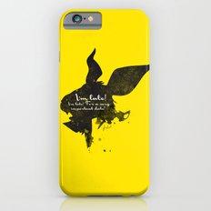I'm late! – White Rabbit Silhouette Quote iPhone 6s Slim Case