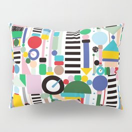 Memphis Milano Postmodern City Towers Pillow Sham