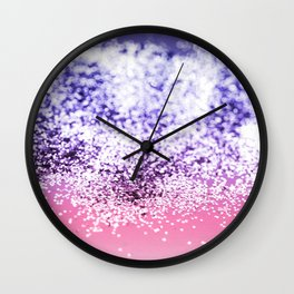 Mermaid Girl Glitter #1 #pink #blue #ombre #decor #art #society6 Wall Clock