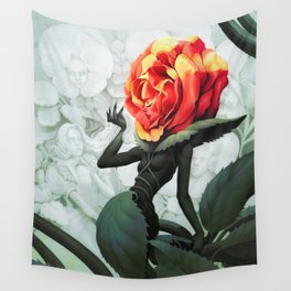 Alice in Wonderland Rose Wall Tapestry