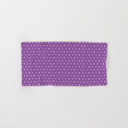 Deep Purple Abstract Floral Lavender Purple and Pastel Purple Feminine Spirit Organic Hand & Bath Towel