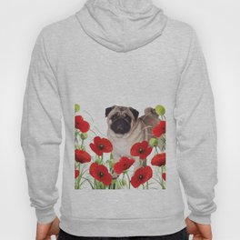 Pug - Poppies Field Hoody