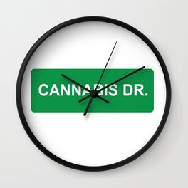 CANNABIS DR Wall Clock