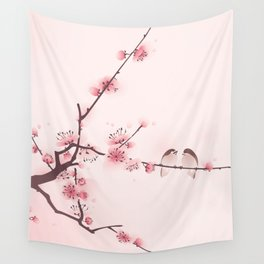 Oriental cherry blossom in spring 005 Wall Tapestry