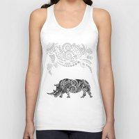rhino Tank Tops featuring Rhino by famenxt