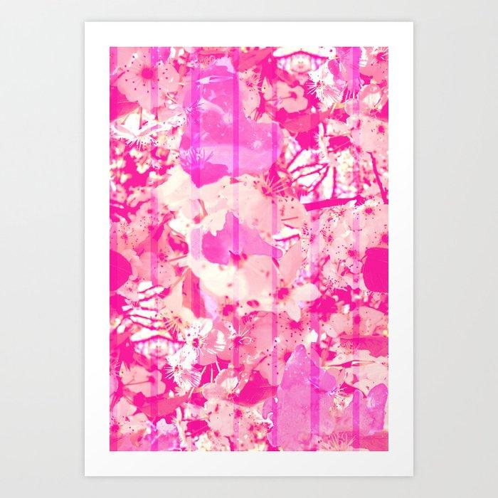 Cherry Bomb Stripe Art Print