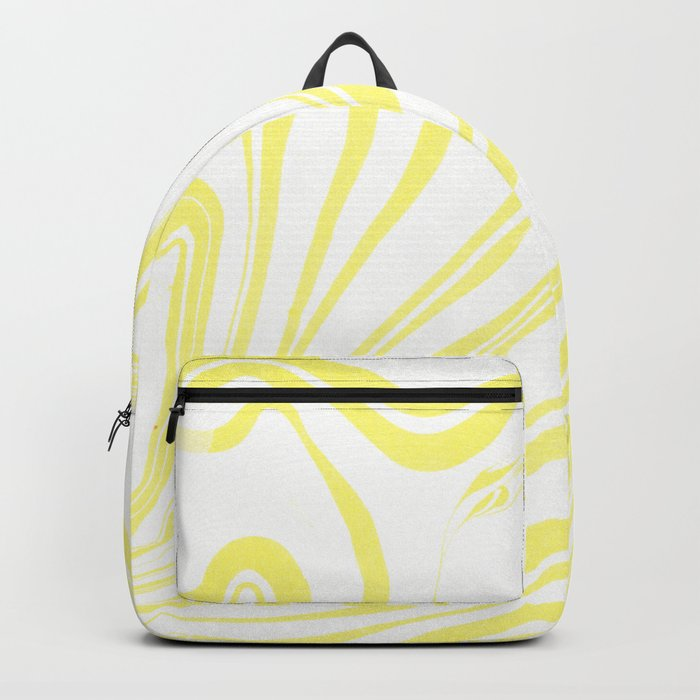Yellow Marble Ink Watercolor Backpack