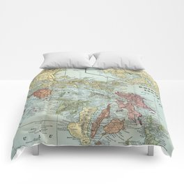 Vintage Map of The Philippines (1898) Comforters