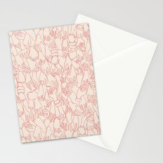 A Plethora of Relaxed Hands in Pink Stationery Cards