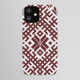 Latvian Traditional Folk Belt Design Pattern iPhone Case