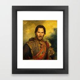 Keanu Reeves - replaceface Framed Art Print