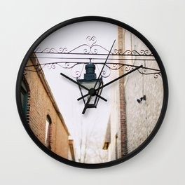 Suburban Alley  Wall Clock