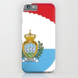 San Marino Christmas sant claus flag designs  iPhone Case