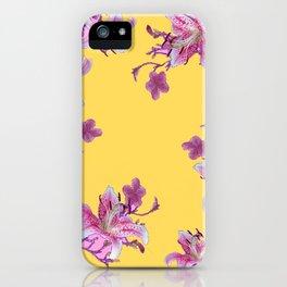 DECORATIVE YELLOW MODERN ART FLORAL iPhone Case