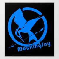 mockingjay Art Prints featuring MockingJay by Marc Koster