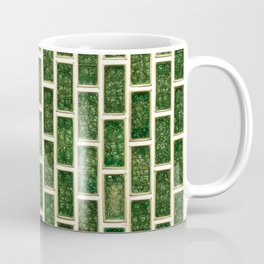Green 70s Glass Tile // White Grout Natural Surface Texture Coffee Mug