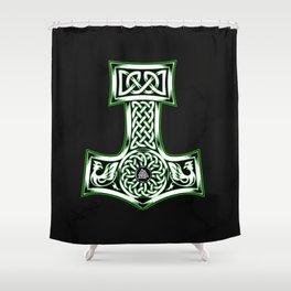 Mjolnir Thor Nordic God product Hammer Vintage Shower Curtain