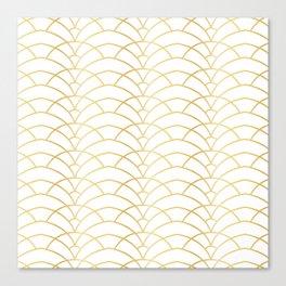 Art Deco Series - Gold & White Canvas Print