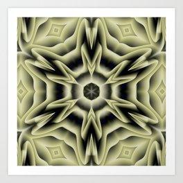Spikes: abstract digital pattern Art Print