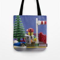airplanes Tote Bags featuring Airplanes by Pedro Nogueira