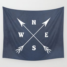 Compass arrows Wall Tapestry