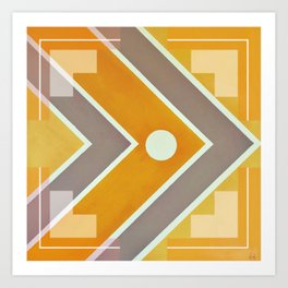 Fish - geometric square Art Print