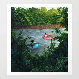 Downstream Art Print