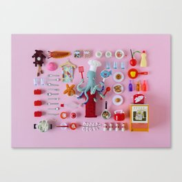 Miniature Collage: Cooking Canvas Print
