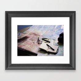 Trip planning Framed Art Print
