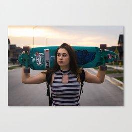 girl skater Canvas Print
