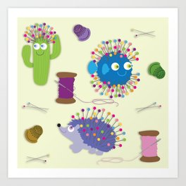 Sew Happy Art Print