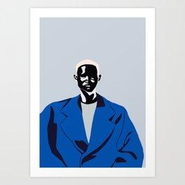 Blue coat Art Print
