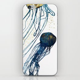 Metallic Jellyfish II iPhone Skin