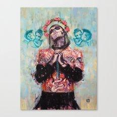 Portrait of Rick Genest aka Zombie Boy Canvas Print