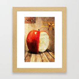 Undisturbed life of an apple Framed Art Print