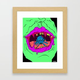 Mouth Critter Framed Art Print