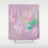 shining Shower Curtains featuring Shining tulips. by Mary Berg