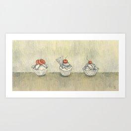 My Sad Ice Cream :( Art Print