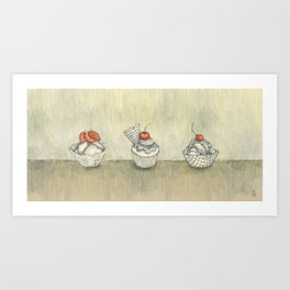 My Sad Ice Cream :( Art Print