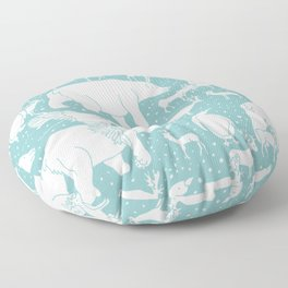 Polar gathering (peppermint) Floor Pillow