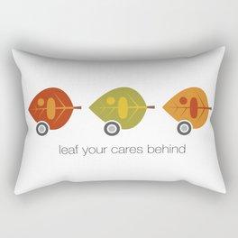 Leaf your cares behind Rectangular Pillow