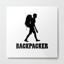 Backpacker Metal Print