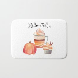 Hello Fall Bath Mat