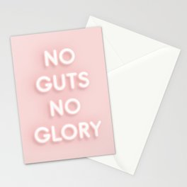 No Guts No Glory / Neon Lights Stationery Cards